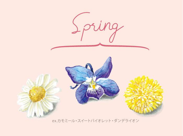 春のエディブルフラワー