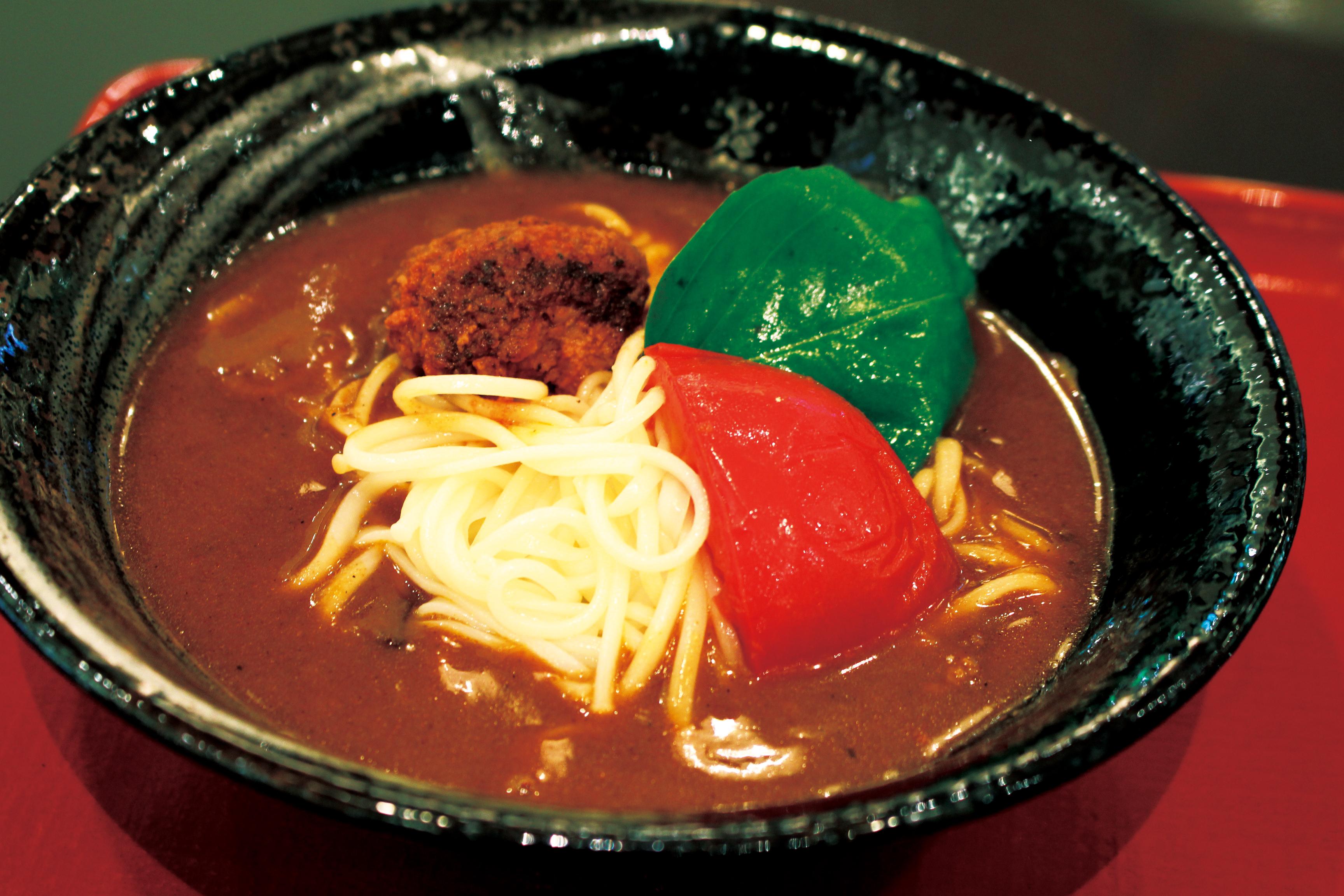 トマトなカレー半田にゅう麺