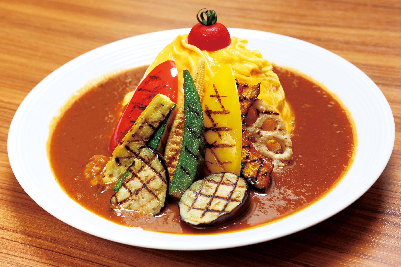 夏野菜オムライスカレー